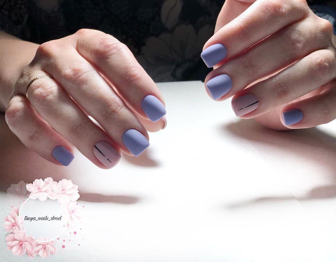 нежный маникюр на короткие ногти 2019 фото_21