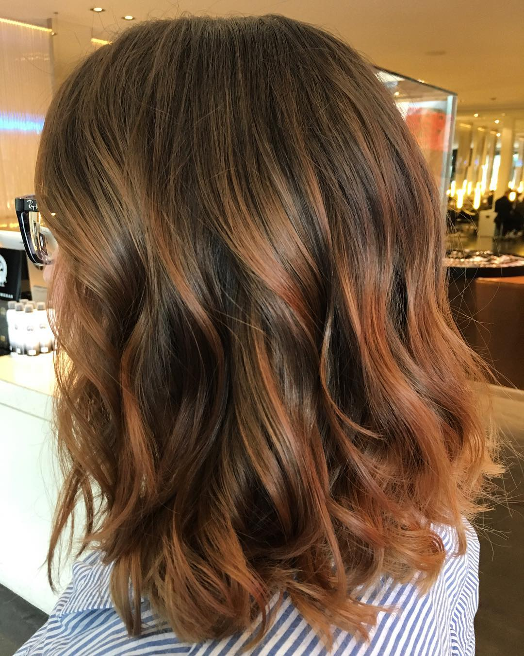 окрашивание тёмно-каштановых волос фото 4
