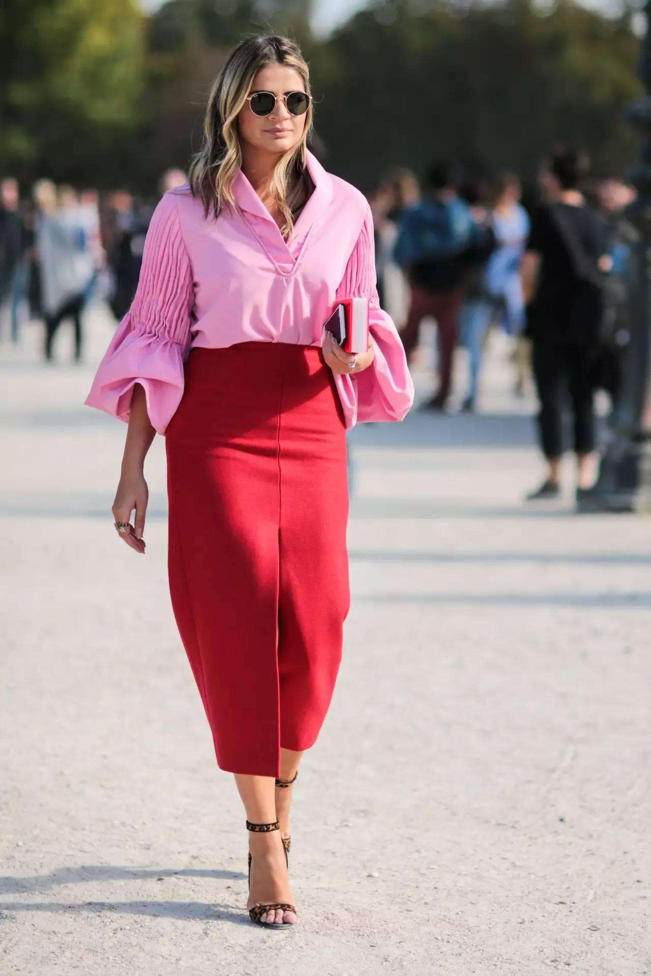 Красная юбка с блузой фото 8