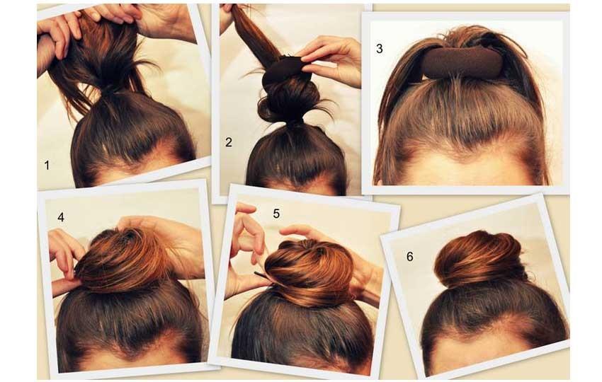 бублик на короткие, средние и длинные волосы фото 2