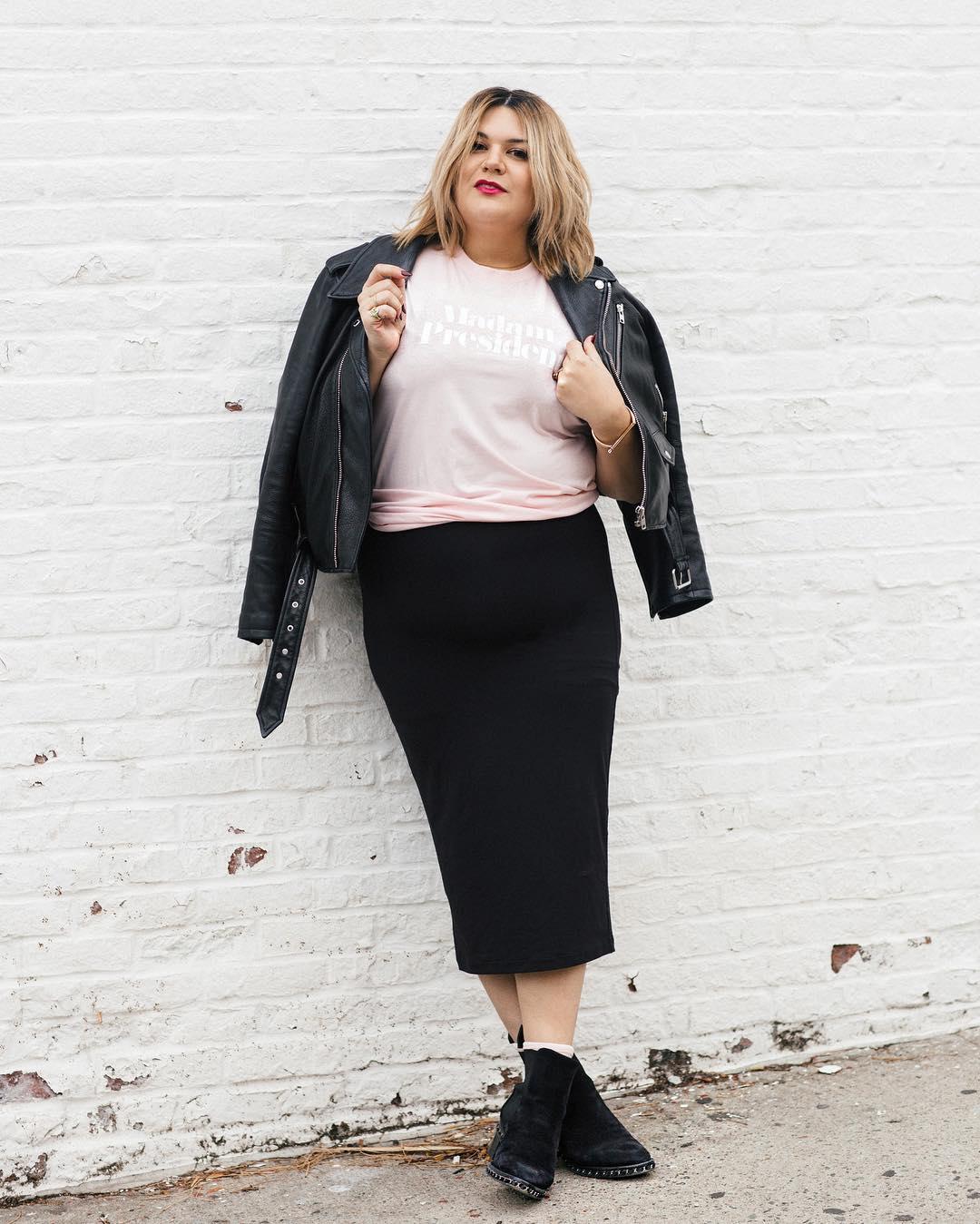 с чем носить юбку карандаш летом полным женщинам фото 3