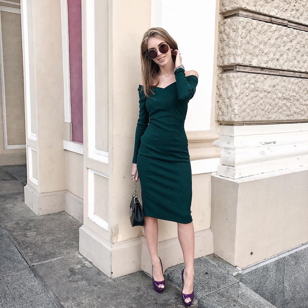 Зеленое платье фото 1