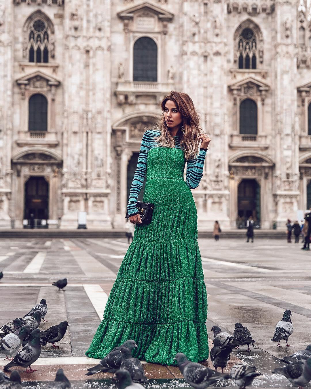 Зеленое платье фото 8