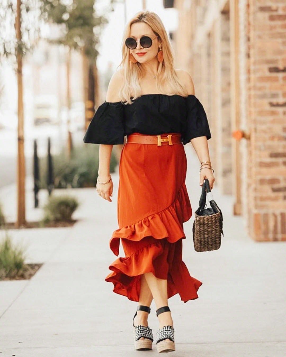с чем носить юбку летом женщинам после 40 лет фото 7