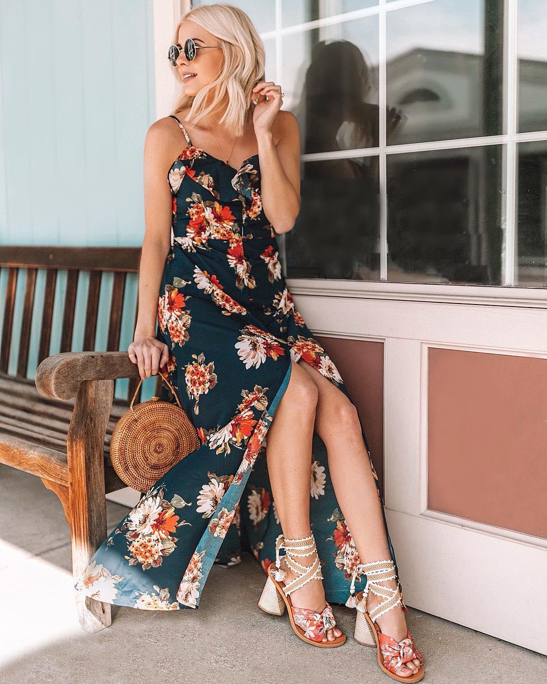 модный летние образы с цветочным принтом фото 9