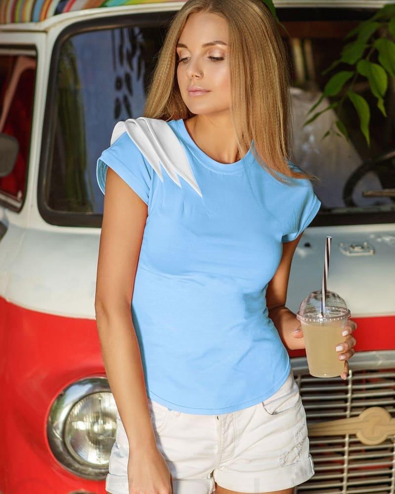 голубая футболка фото 4