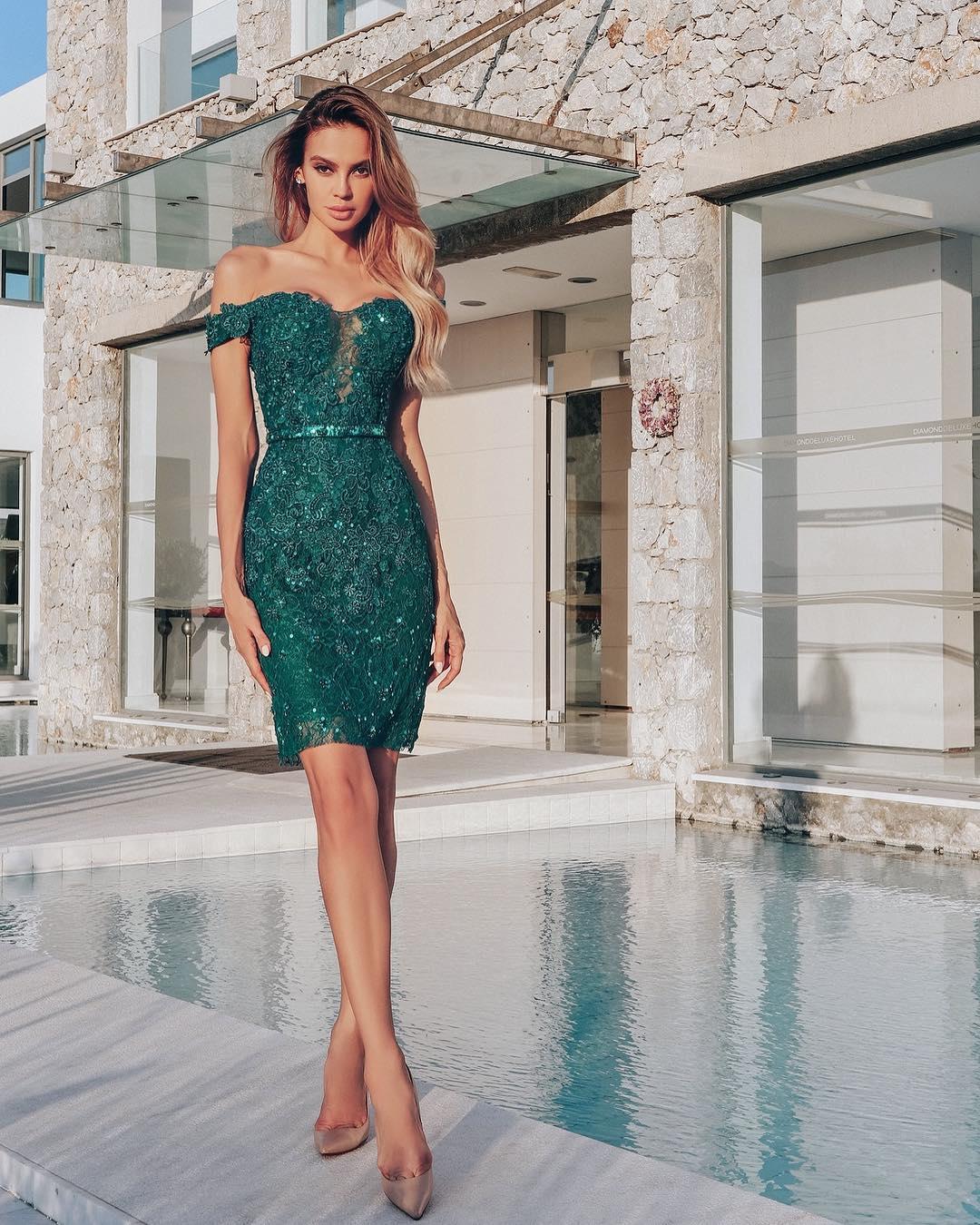 Зеленое платье фото 6