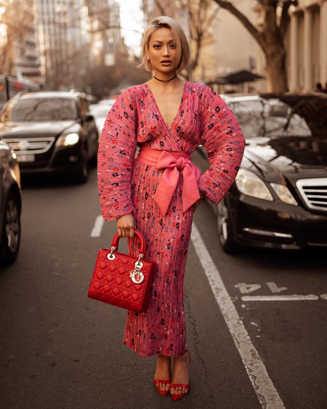 розовое платье фото 8