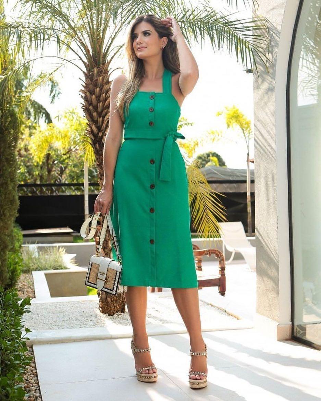 зеленый сарафан фото 4