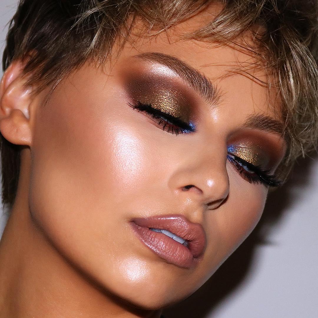 Коричневый макияж фото 1