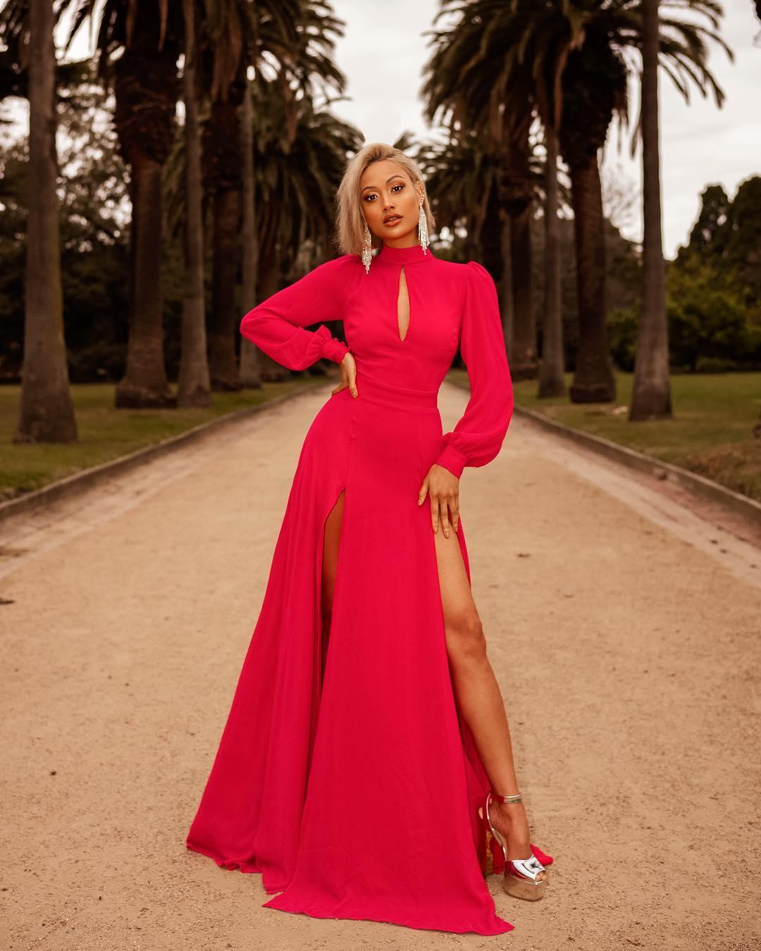 розовое платье фото 9