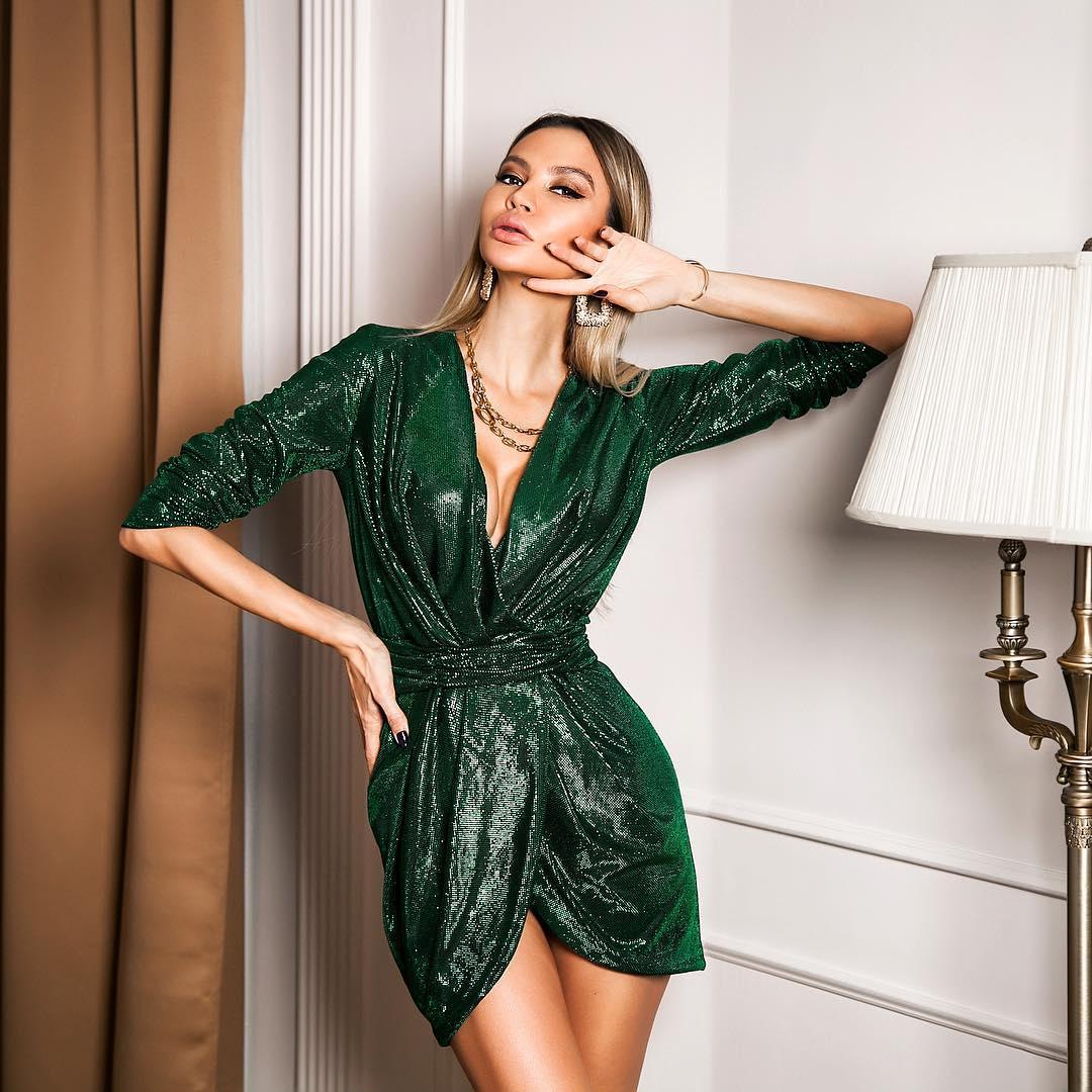 Зеленое платье фото 7