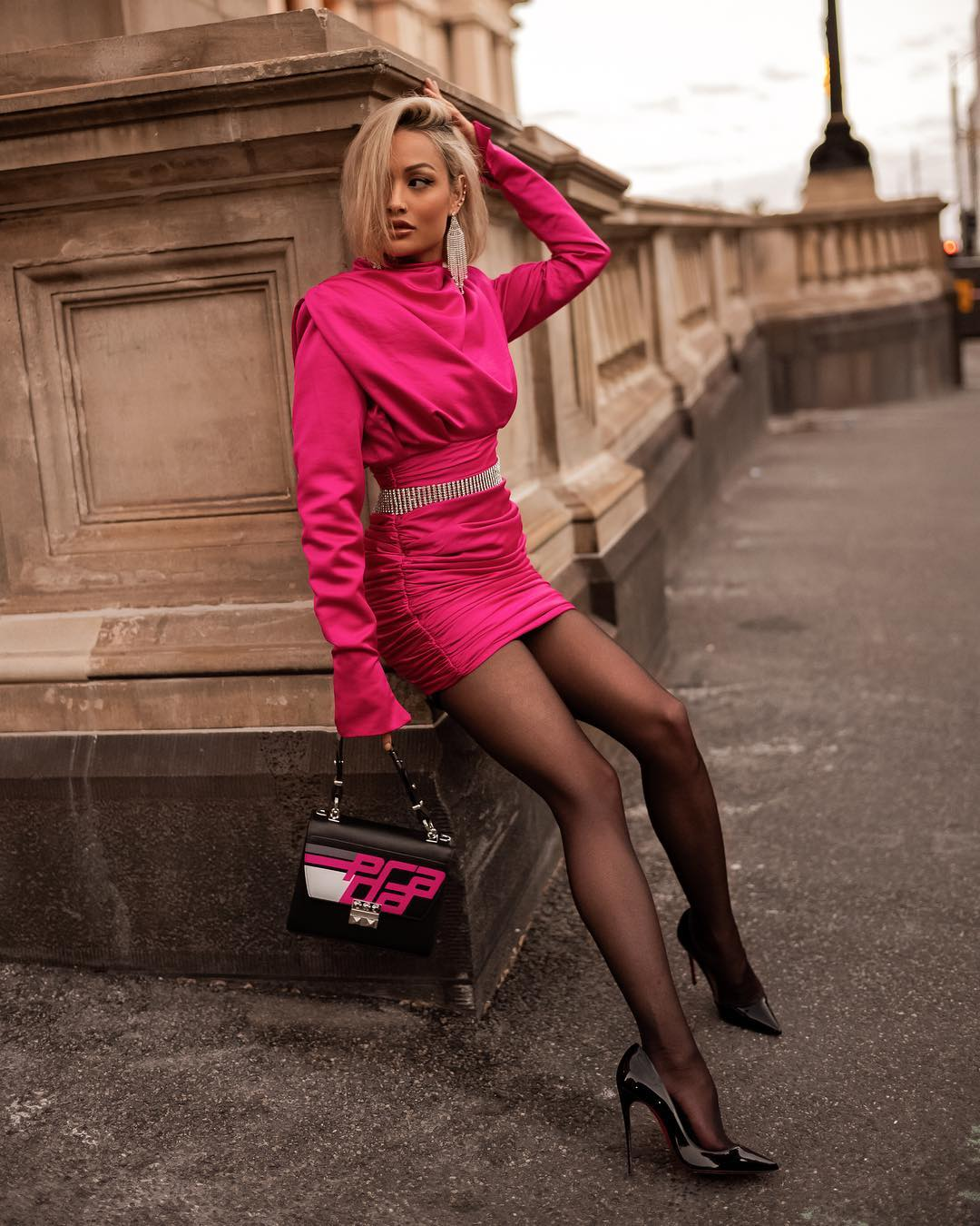 розовое платье фото 10