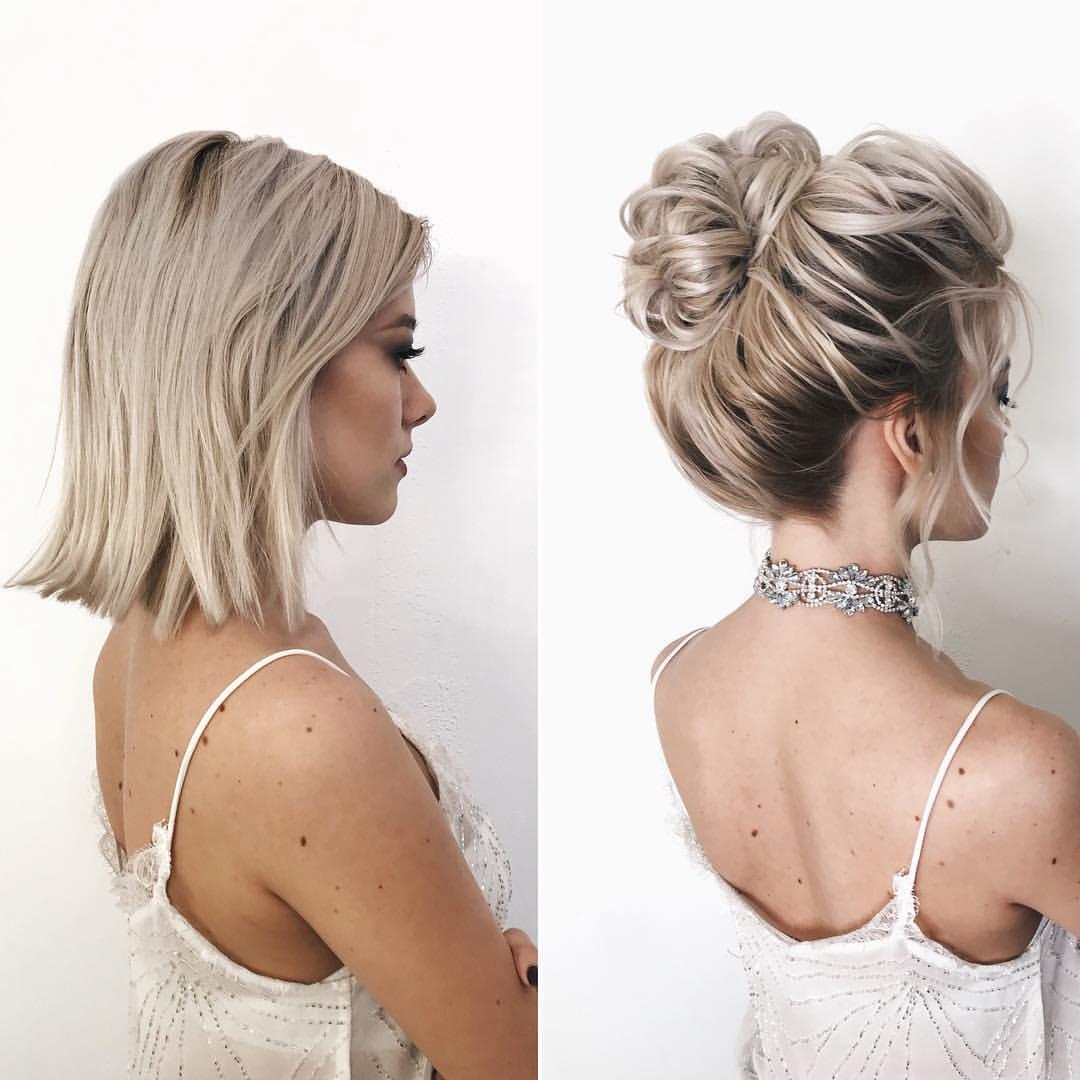 свадебные причёски для коротких волос фото 6