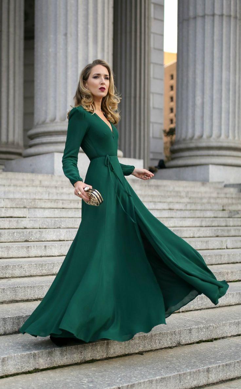 Зеленое платье фото 5