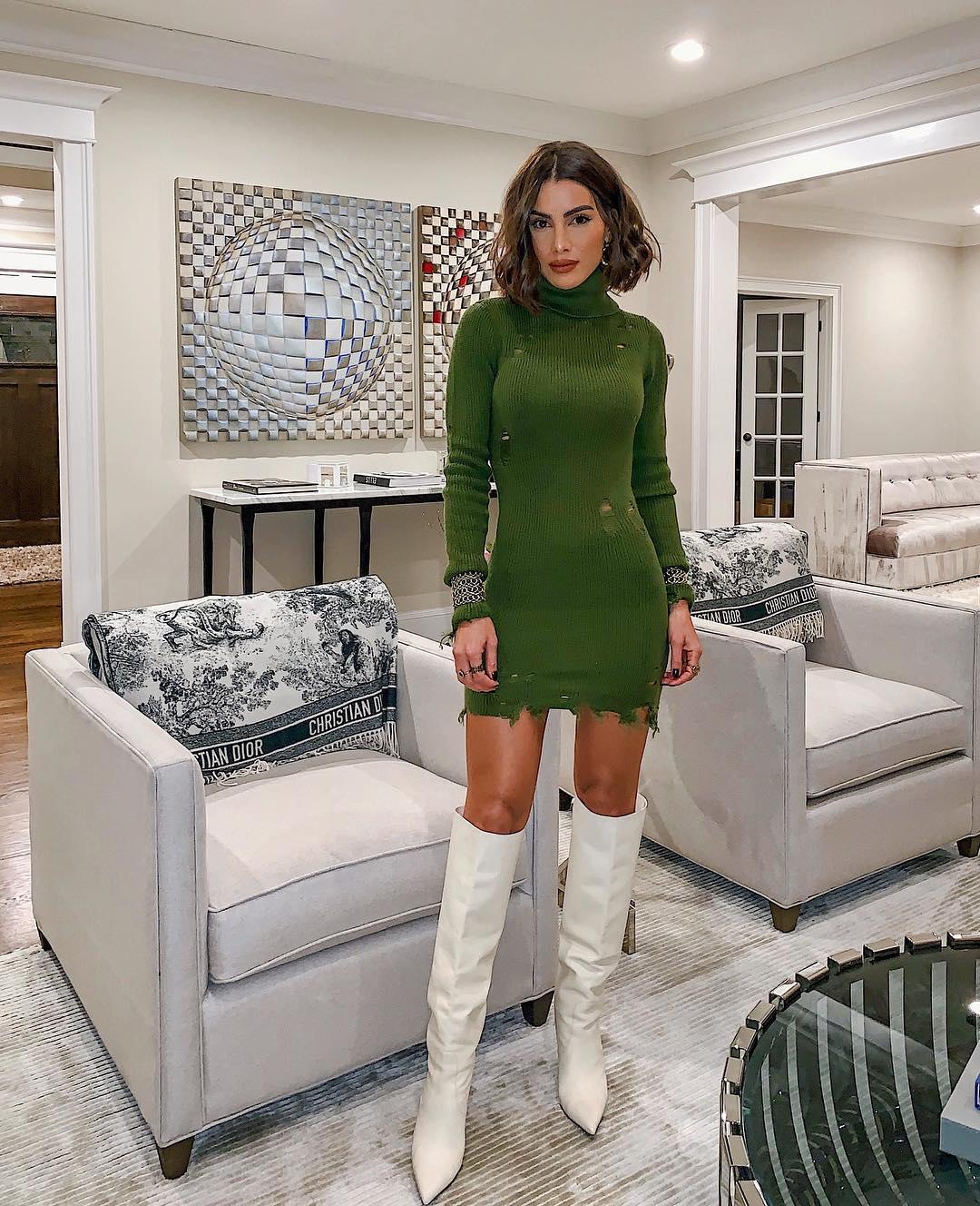 Зеленое платье фото 4