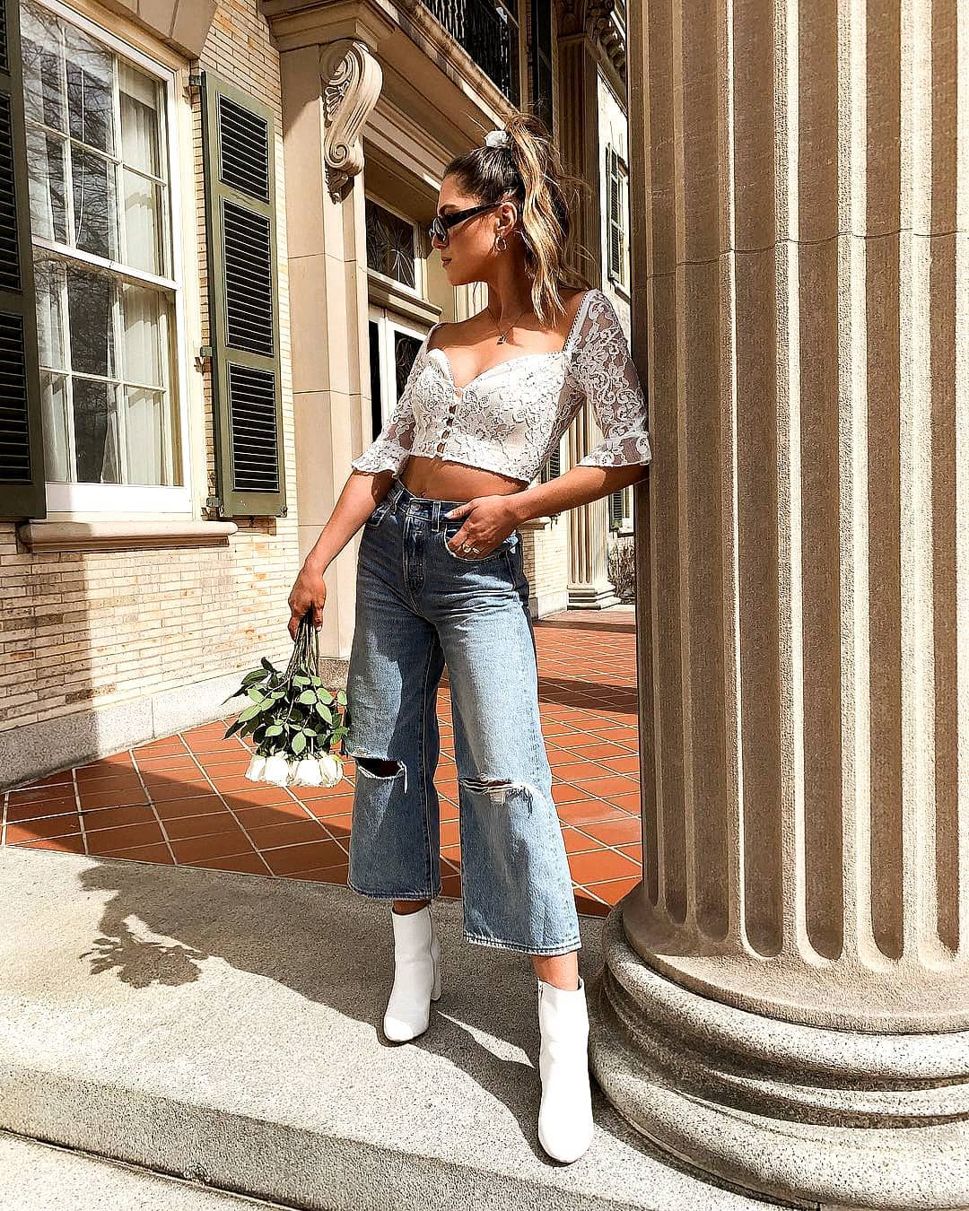 С чем носить джинсы летом фото 3