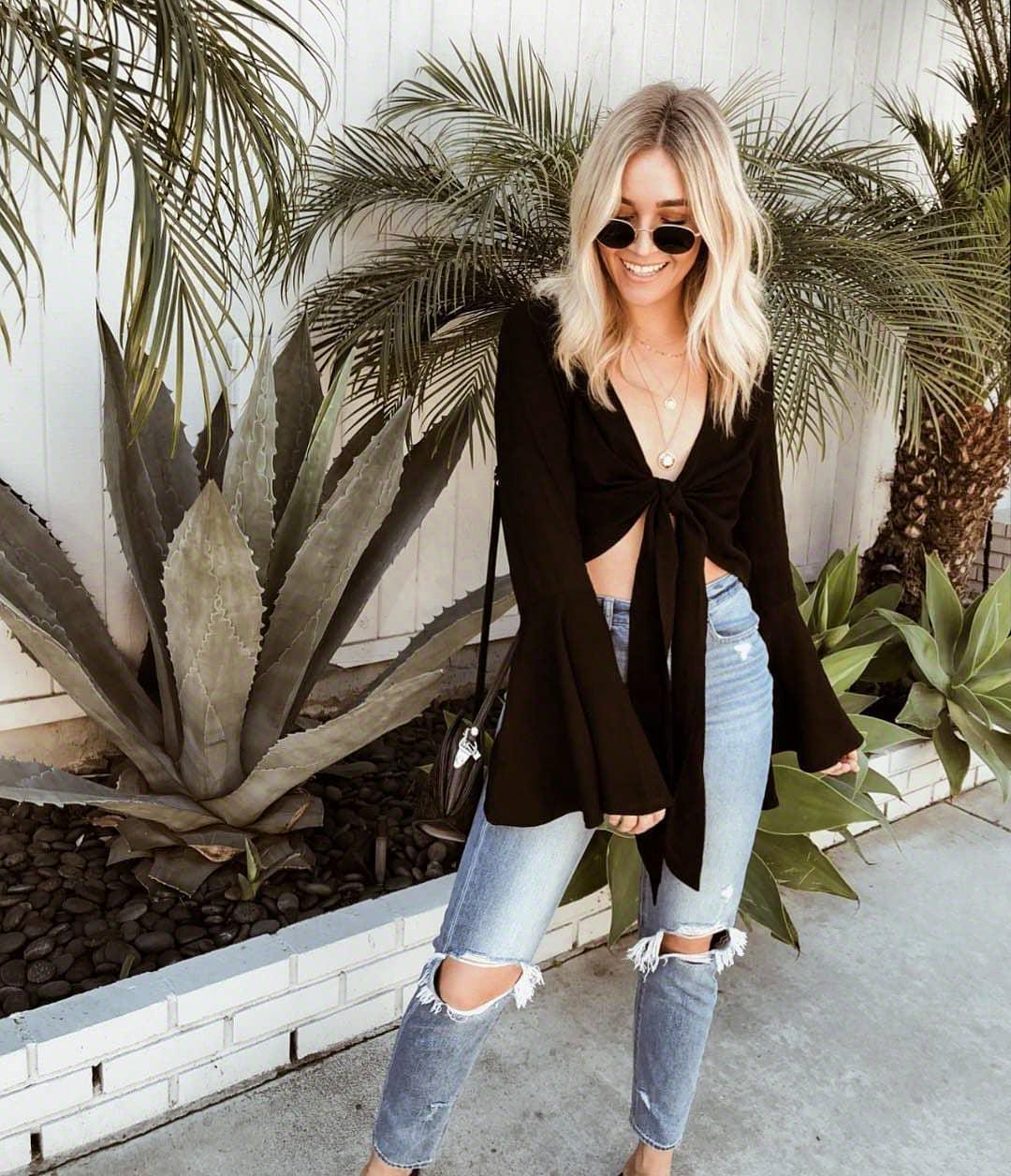 С чем носить джинсы летом фото 4