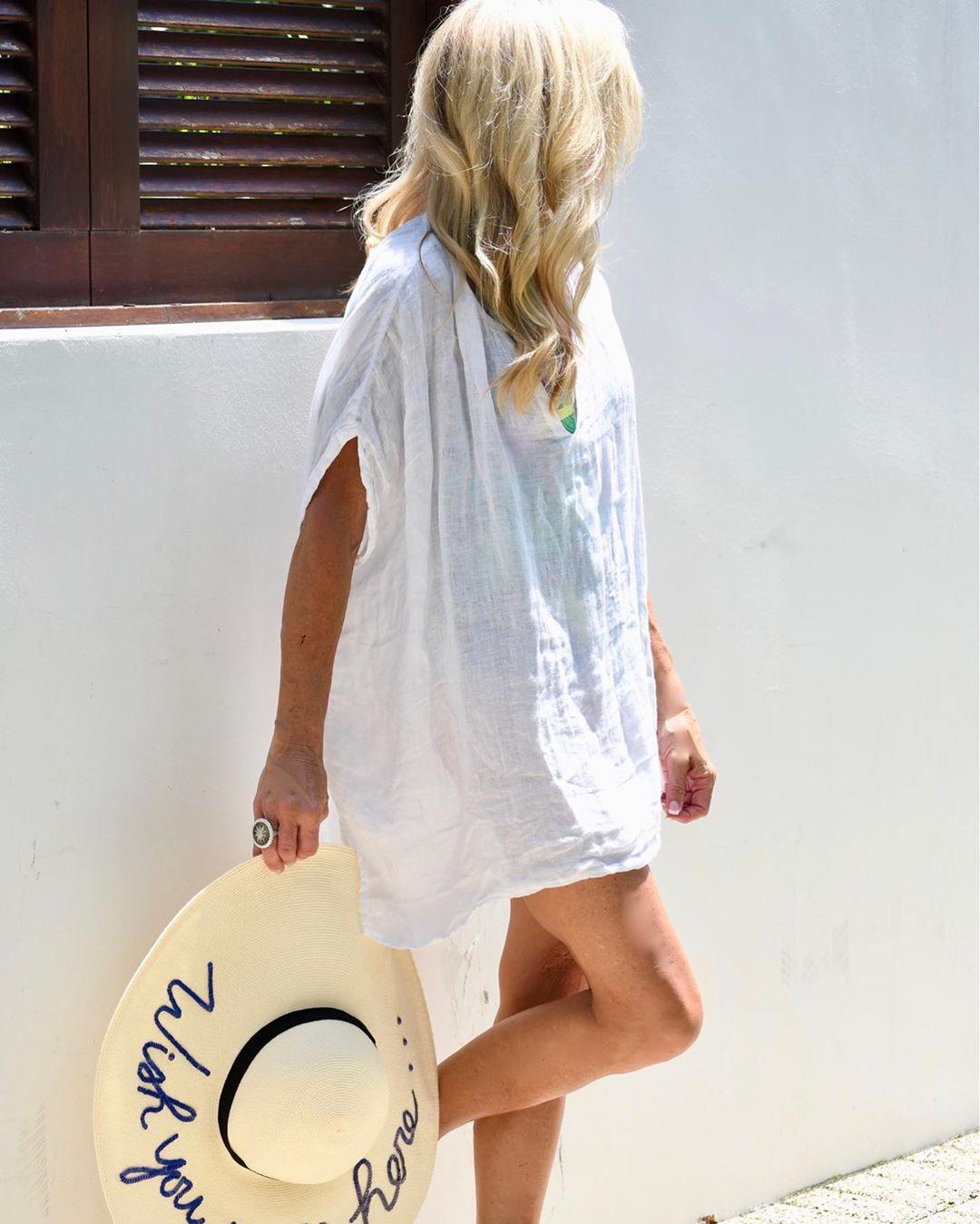 с чем носить тунику летом женщинам после 40-50 лет фото 2