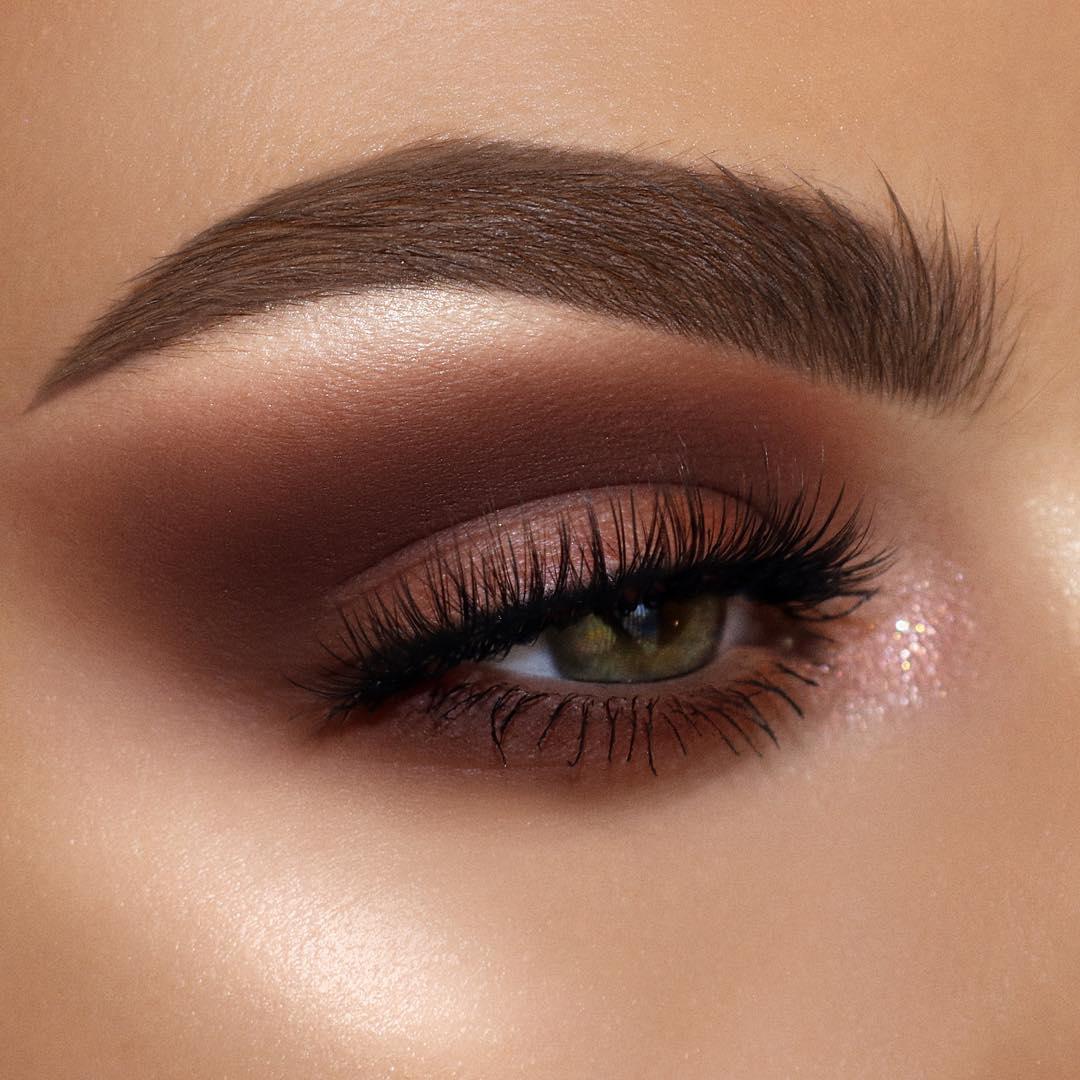Коричневый макияж фото 7