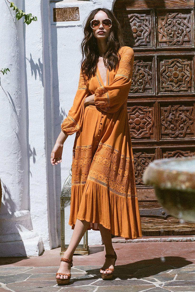 Летние платья в стиле бохо фото 1