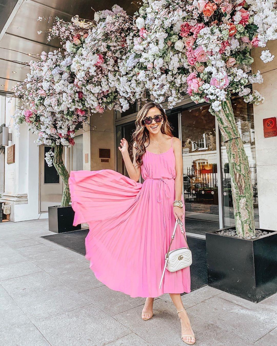 розовое платье фото 11