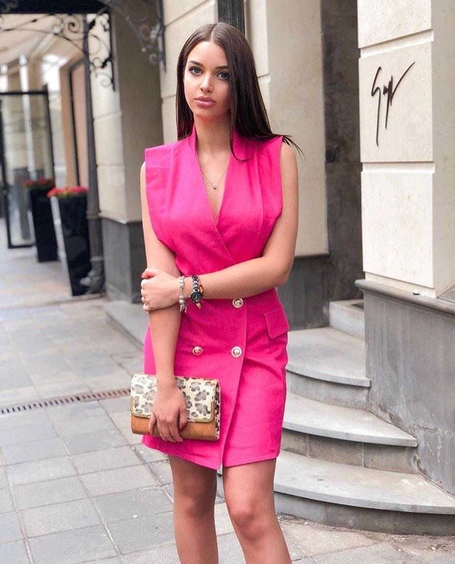 розовое платье фото 6