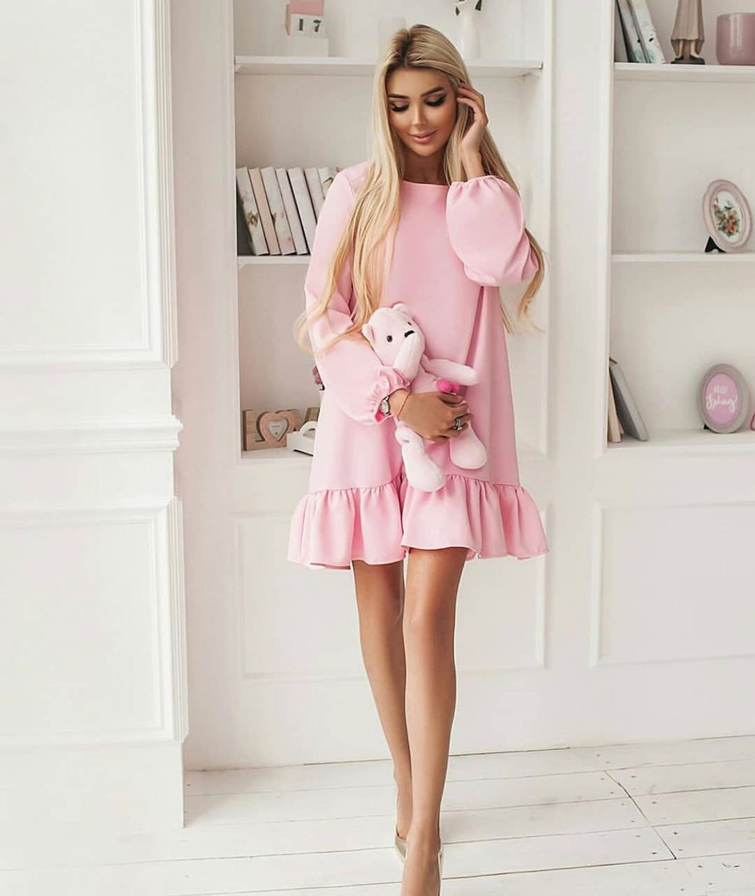 розовое платье фото 4