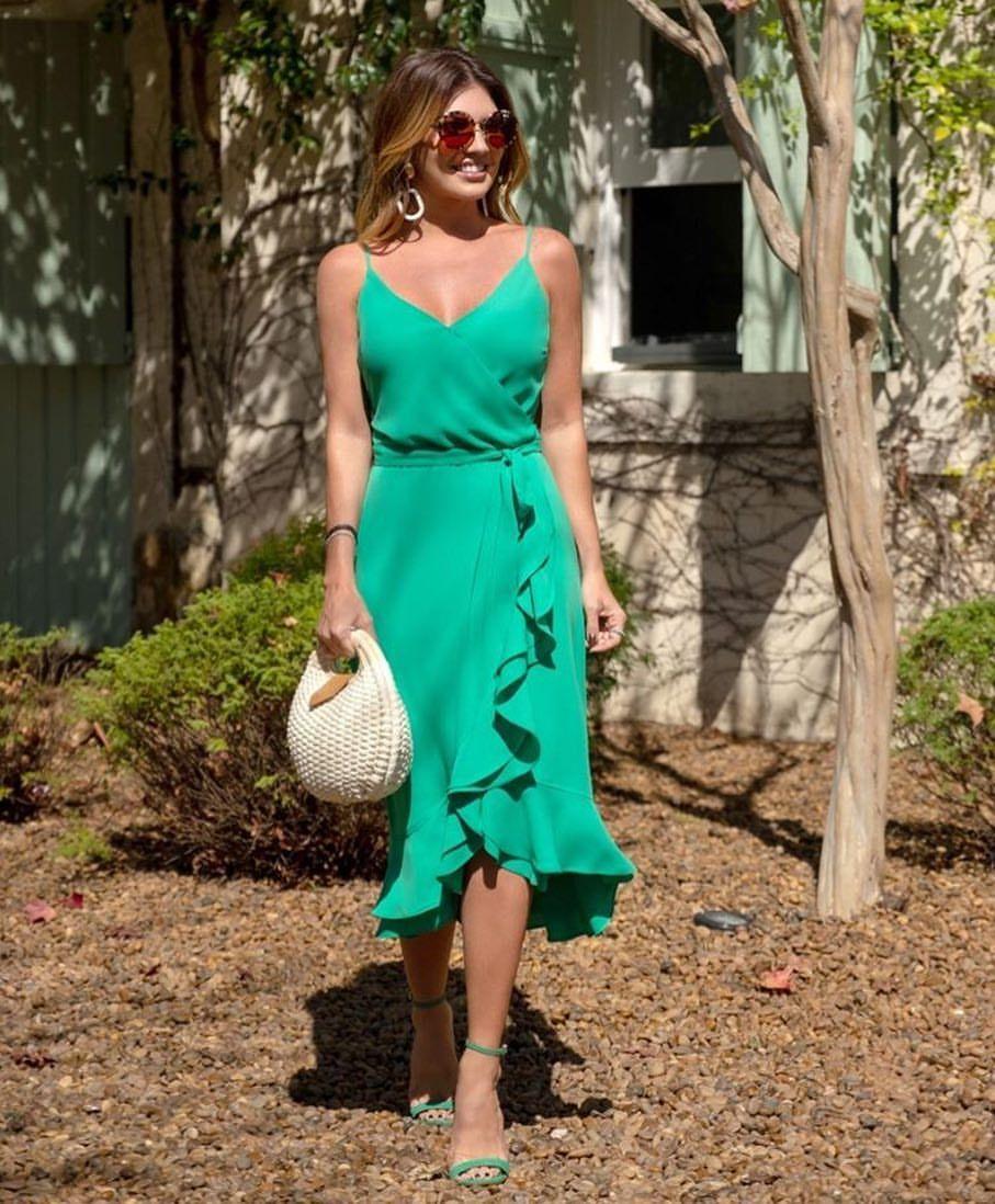 зеленый сарафан фото 3
