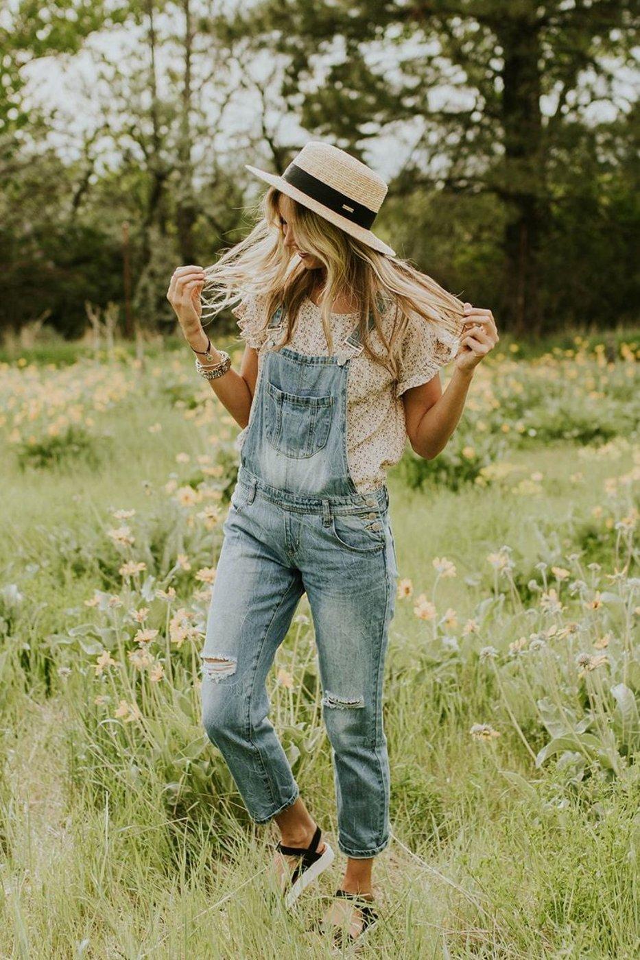 Летние джинсовые комбинезоны 2019 фото 10