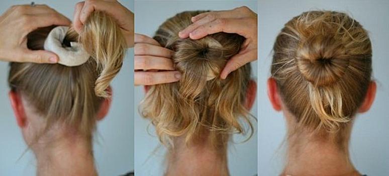 бублик на короткие, средние и длинные волосы фото 3