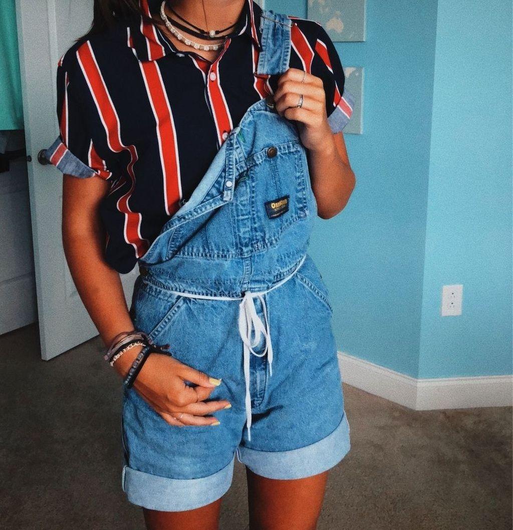 Летние джинсовые комбинезоны 2019 фото 2