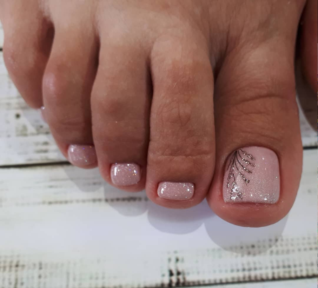 педикюр на короткие ногти_1