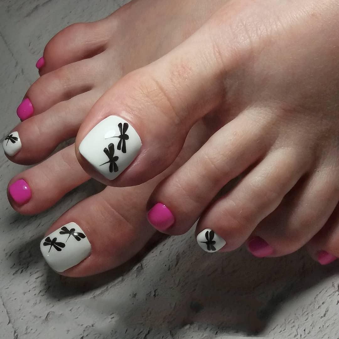 педикюр на короткие ногти_9