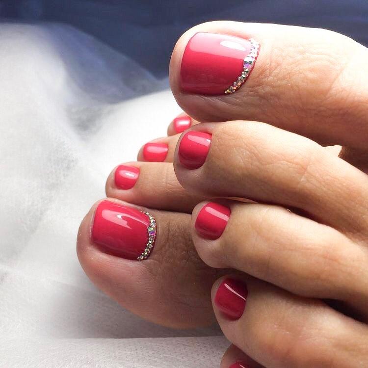 педикюр на короткие ногти_28