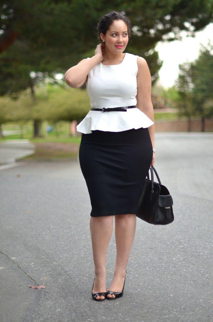 с чем носить юбку карандаш летом полным женщинам фото 11
