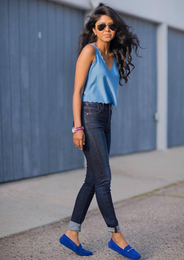 Мокасины с джинсами фото 7