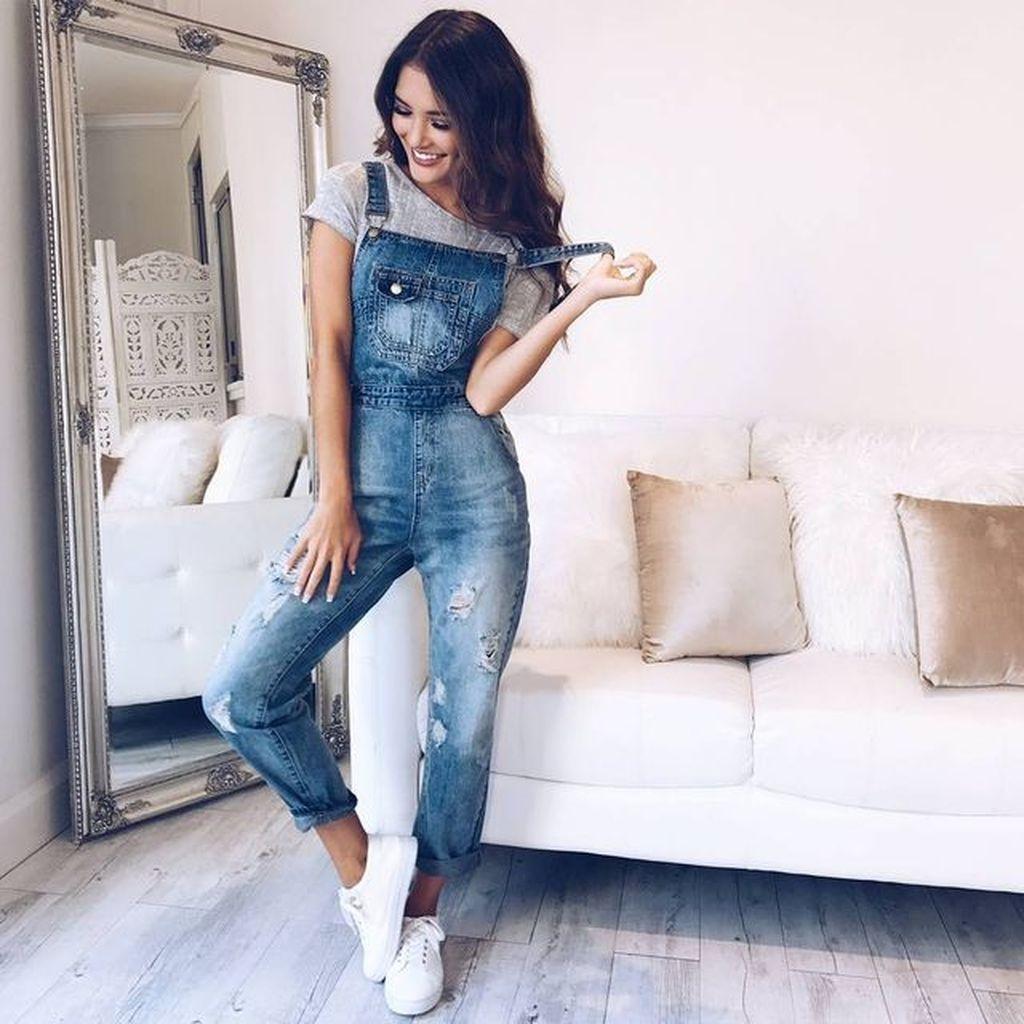 Летние джинсовые комбинезоны 2019 фото 1