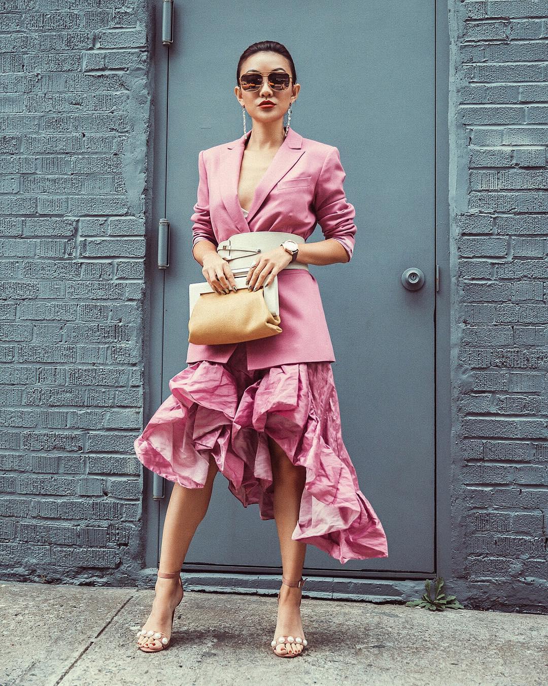 модный летние образы в розовом цвете фото 2