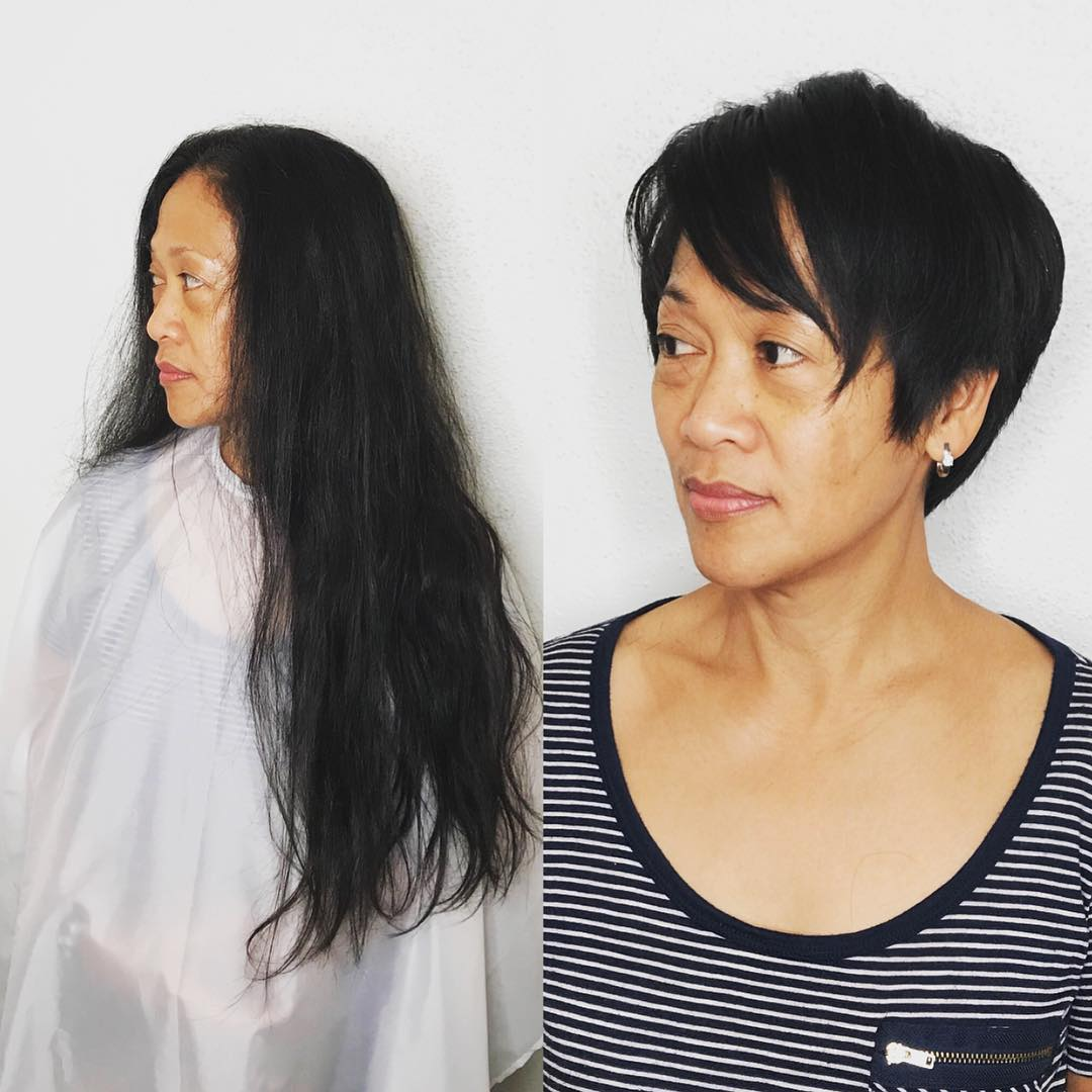 стрижки для женщин после 50 фото 12