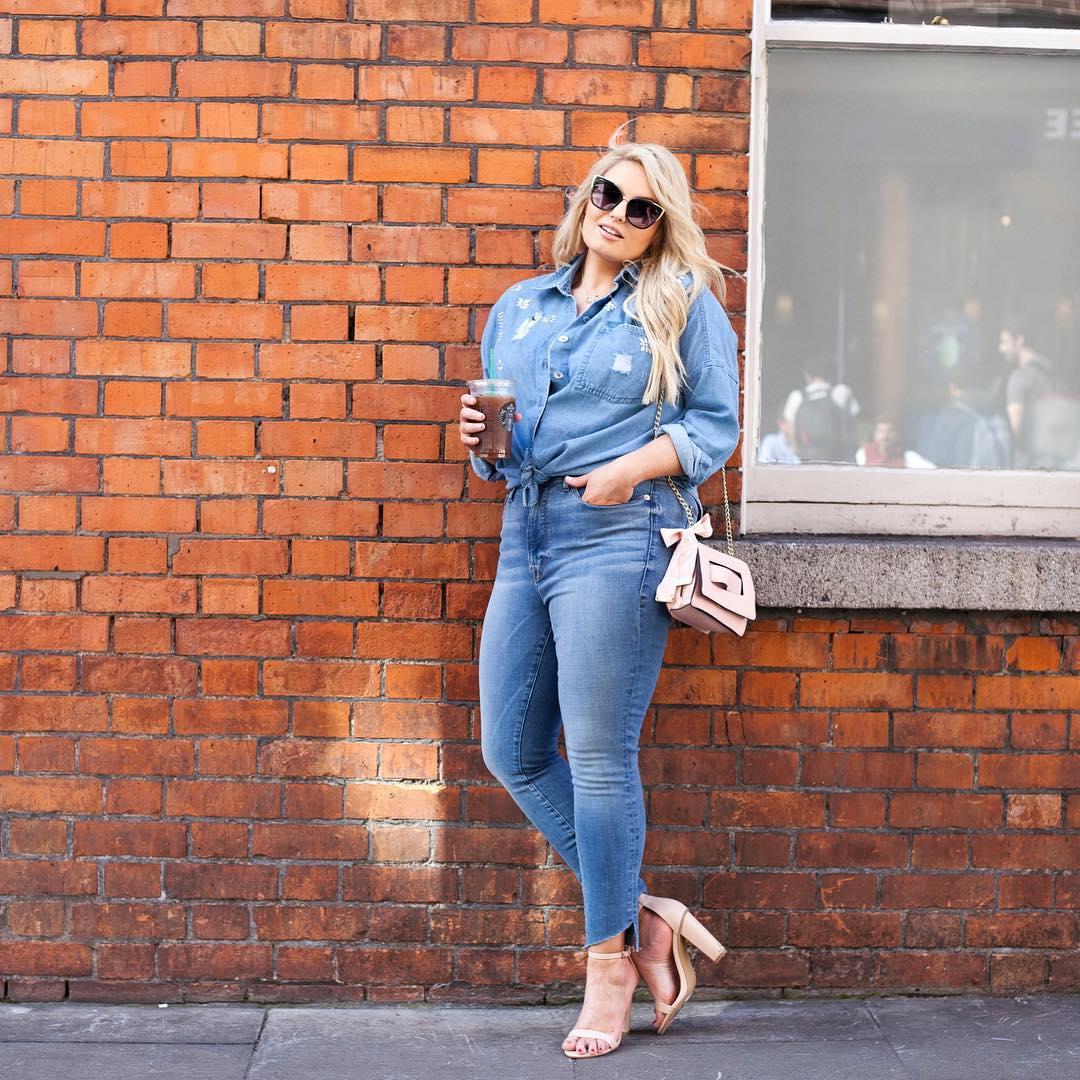 с чем носить джинсы летом полным женщинам фото 4