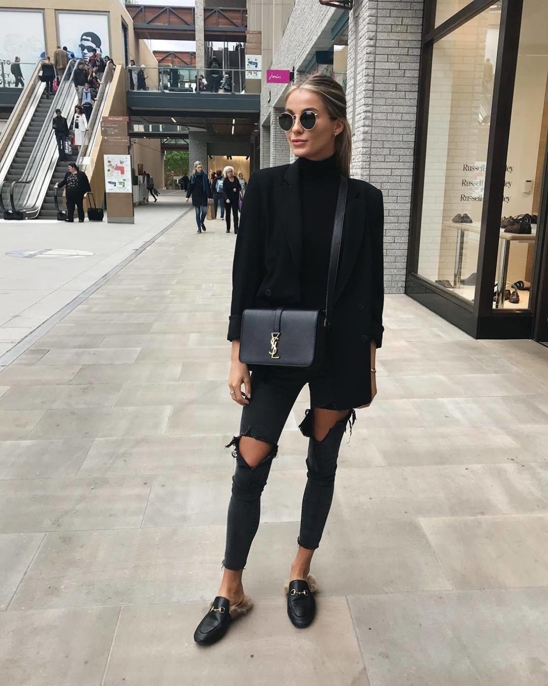 Черные джинсы фото 5