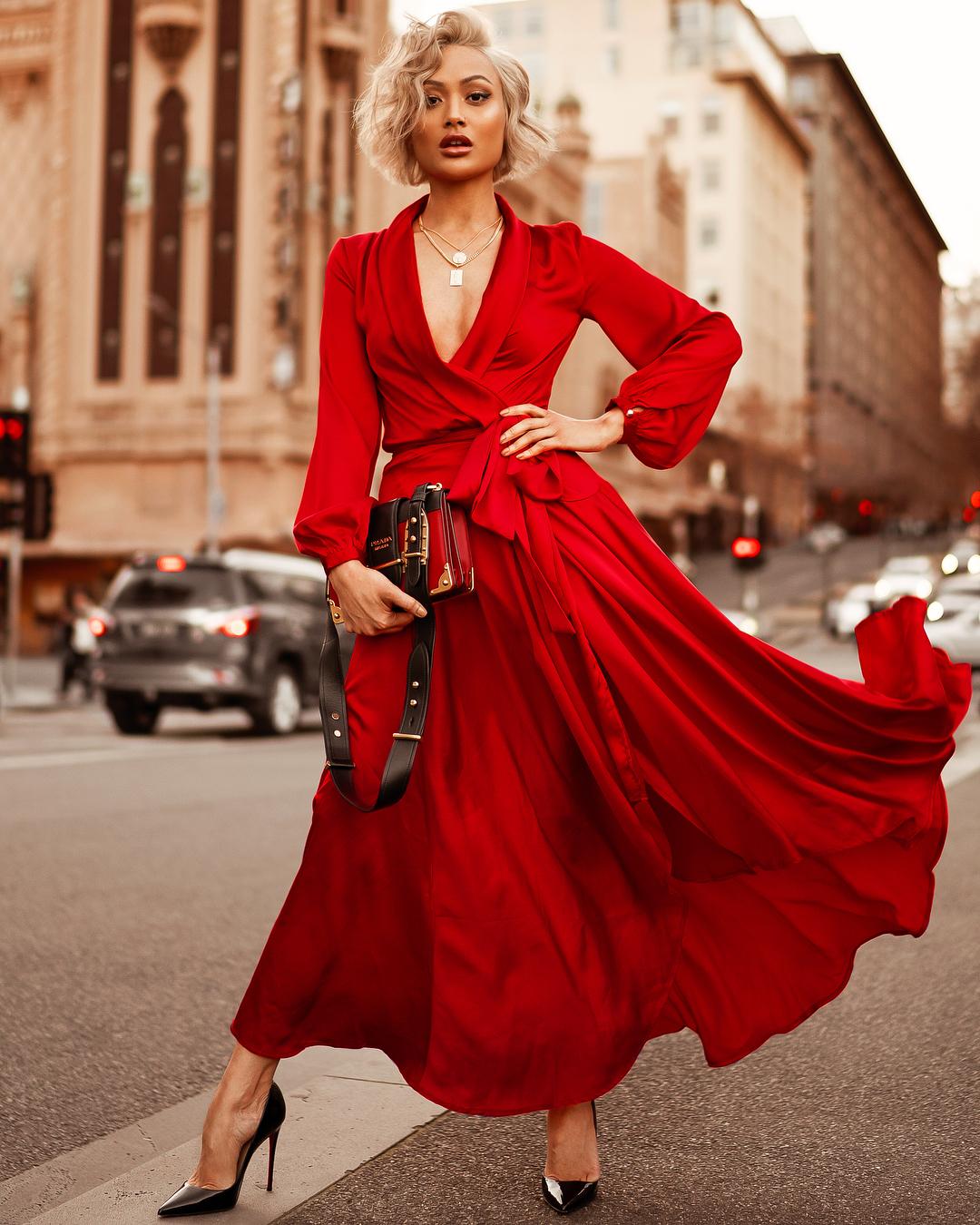 модный летние образы в красном цвете фото 4