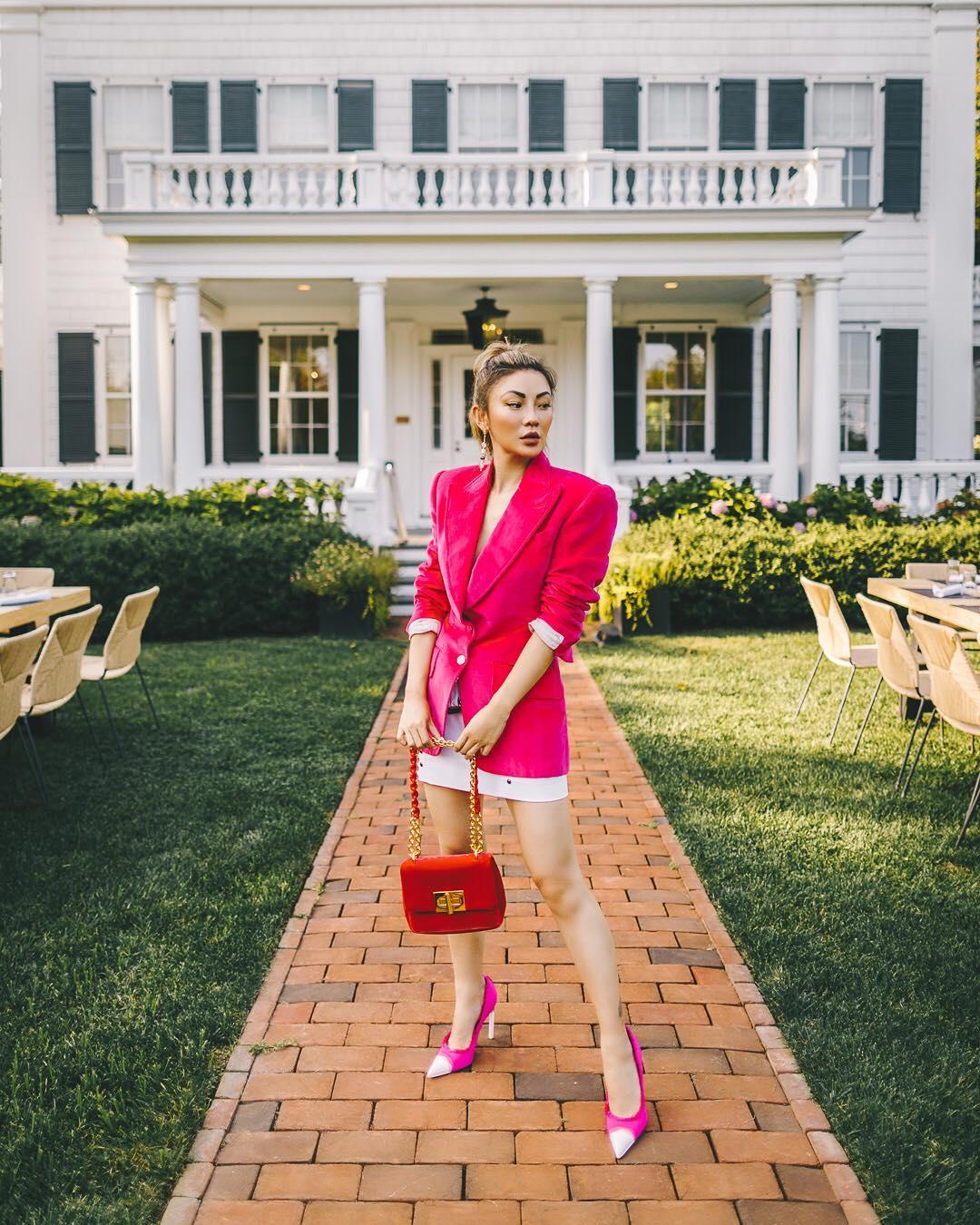 модный летние образы в розовом цвете фото 5
