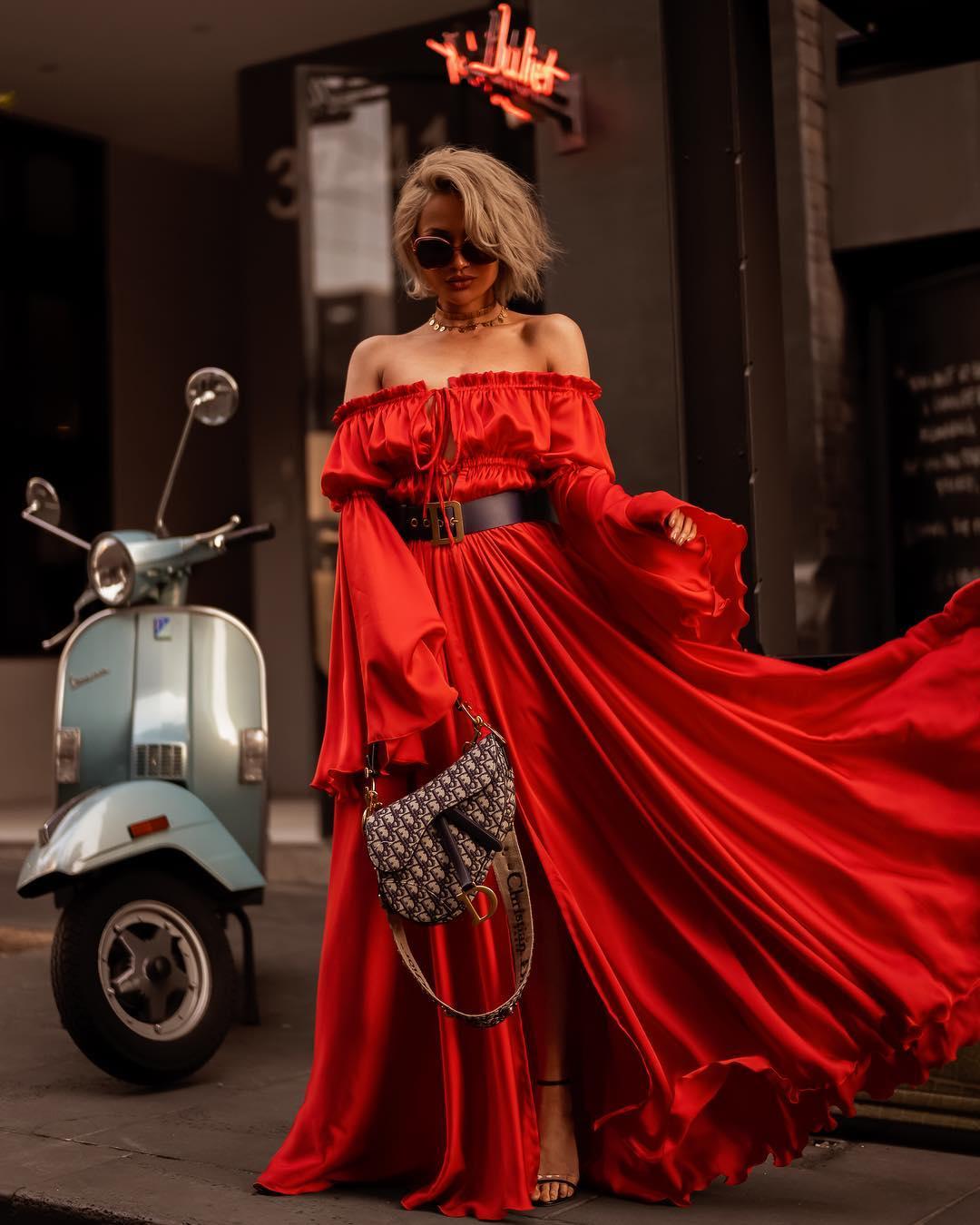 модный летние образы в красном цвете фото 8