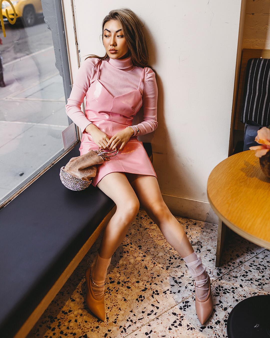 модный летние образы в розовом цвете фото 8