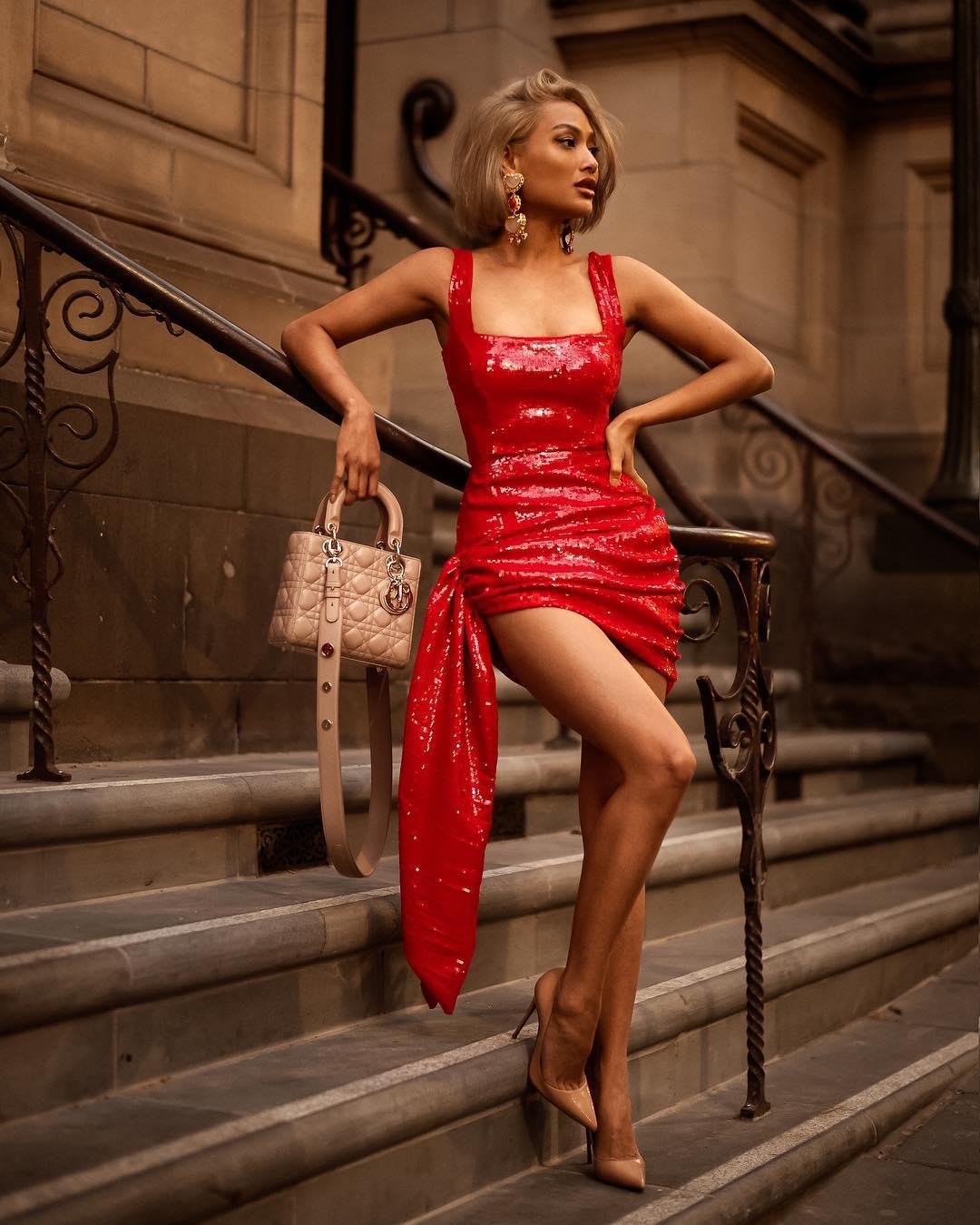 модный летние образы в красном цвете фото 10