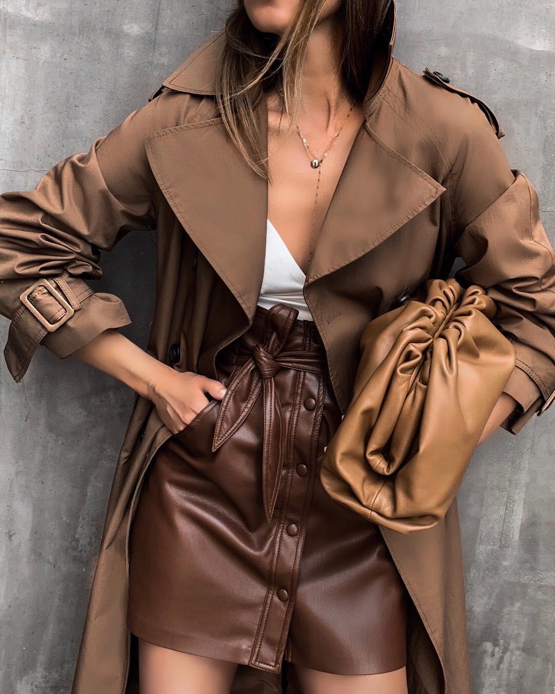 модные осенние образы в коричневом цвете фото 11