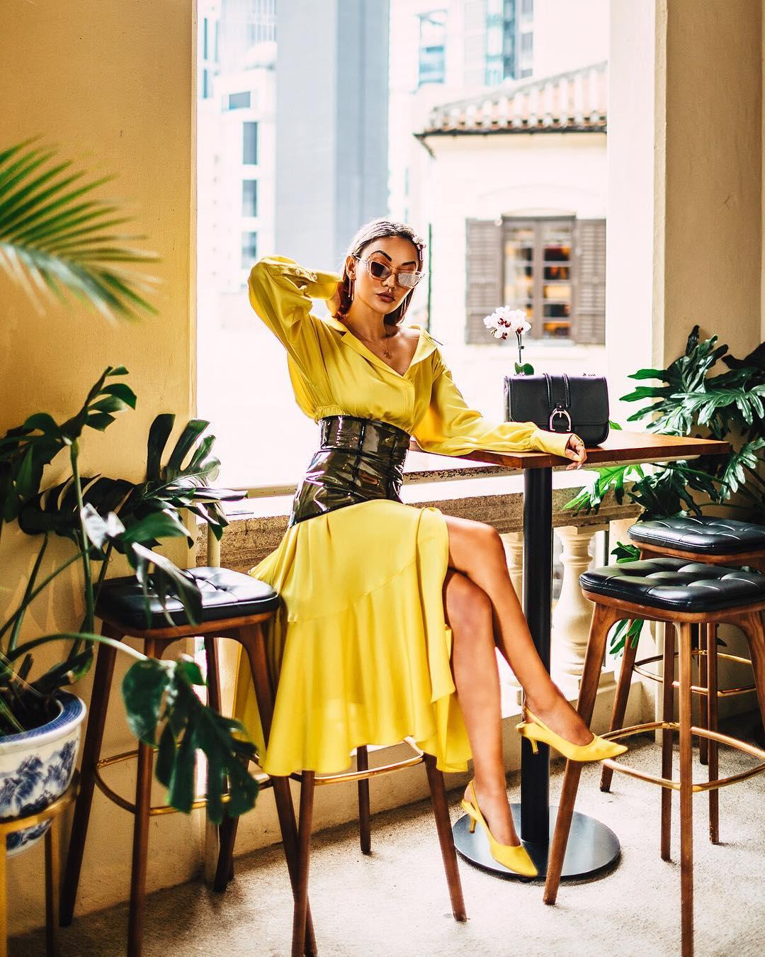 модный летние образы в желтом цвете фото 9