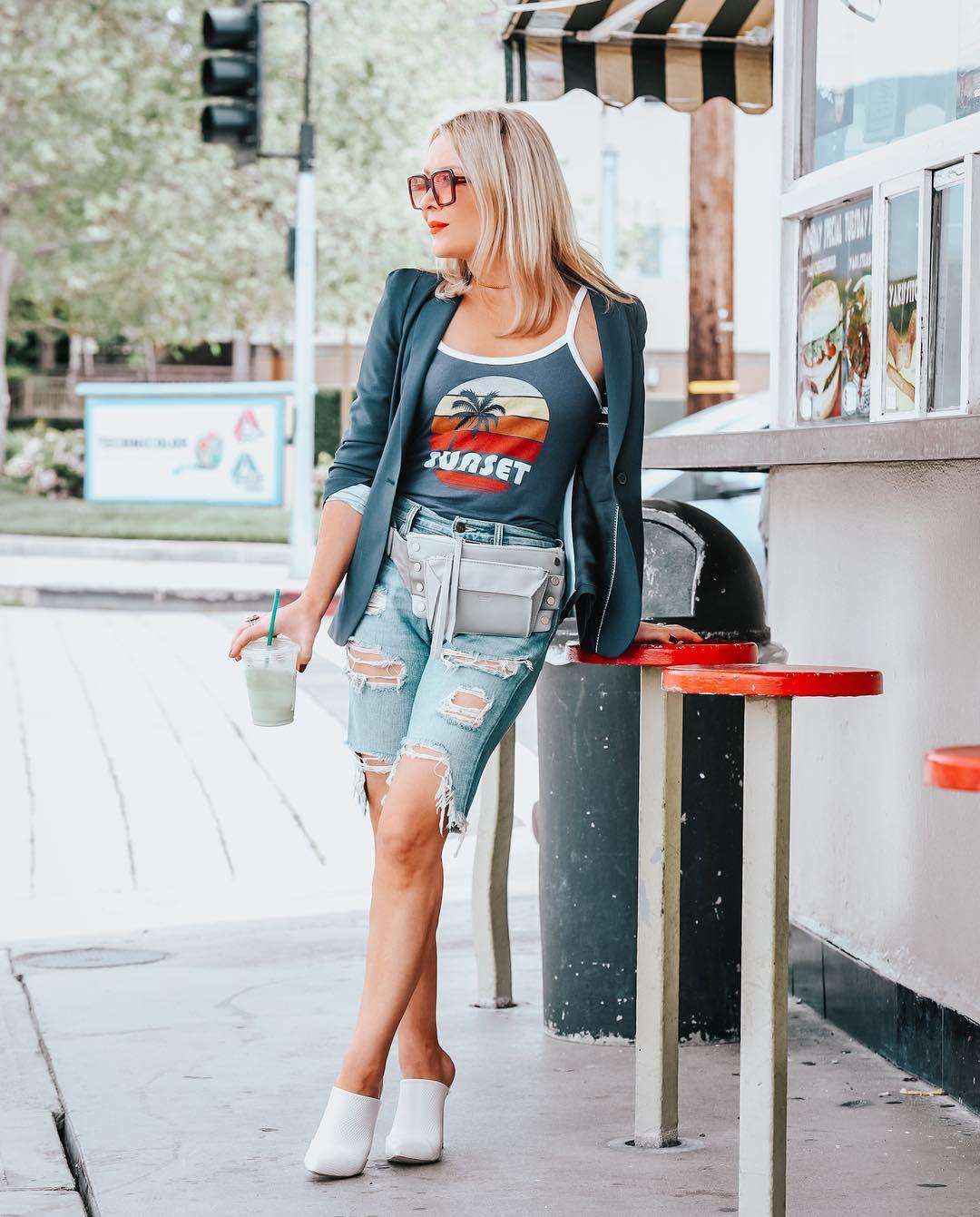 с чем носить шорты летом женщинам после 40-50 лет фото 9